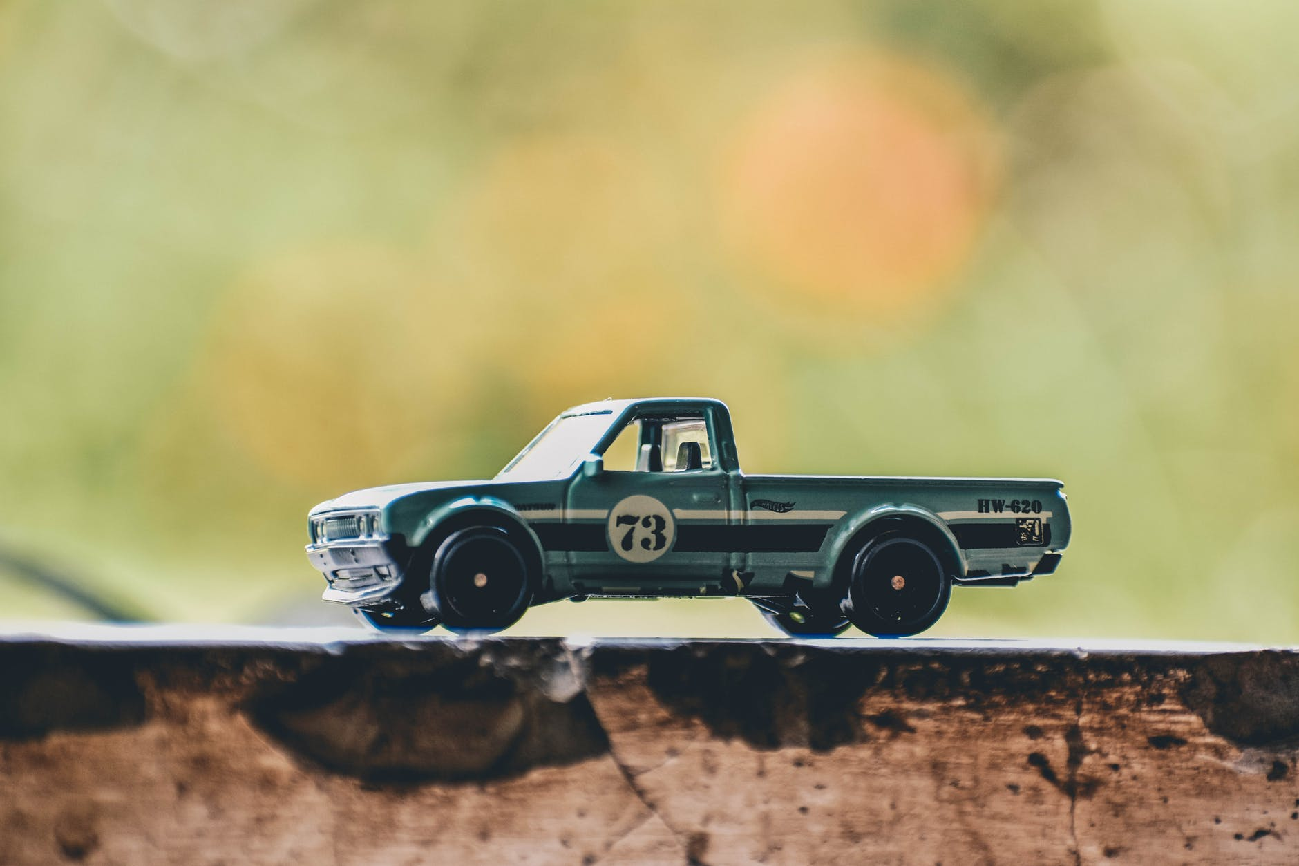selective focus photography of toy truck